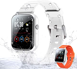 WOEOA Smartwatch Orologio Fitness Donno Uomo 1,3'' Full Touch Activity Tracker, Impermeabil IP68, Cardiofrequenzimetro, Cr...
