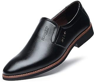 [ランボ] ビジネスシューズ メンズ 滑り止め 通気快適 軽量 耐久性 歩きやすい 脱げない 痛くない 疲れない 紳士靴 フォーマル靴 セーフティーシューズ カジュアル 就活 通勤 26.0cm 普段用 冠婚葬祭 防寒 くろい