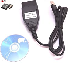 DCAN C/âble USB K Voiture BiuZi K DCAN OBD2 C/âble de diagnostic USB Outils FT232RQ INPA Ediabas NCS avec lecteur de CD