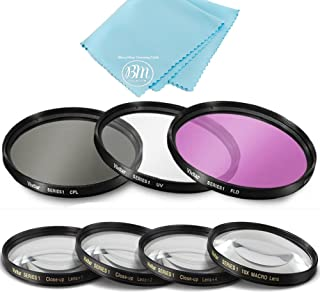 77mm 7PC Filter Set for Nikon COOLPIX P1000 16.7 Digital Camera - Includes 3 PC Filter Kit (UV-CPL-FLD) and 4PC Close Up F...