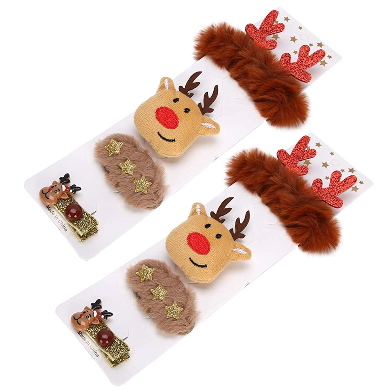 センター海里服を片付ける装飾的なヘアバンド、ヘアアクセサリー、クリスマスパーティーの女の子のためのかわいいヘアピン(Deer)