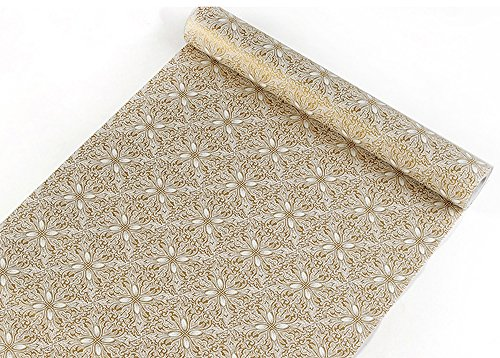 Self Adhesive Decorative Contact Paper Shelf Liner for Kitchen Cabinets Drawer Dresser Shelves Wall Arts and Crafts Decor 177x787 Inches