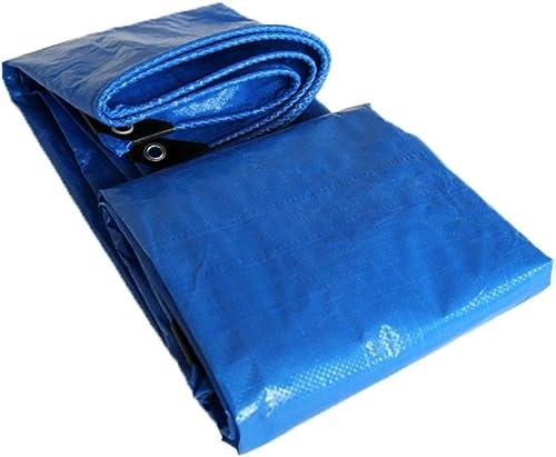 Tarpaulin HUO Bache Imperméable, Feuille Durable De Poncho D'auvent Anti-UV De Résistance Aux Larmes pour Le Camion De Tricycle (Couleur   Bleu, Taille   10  12m)