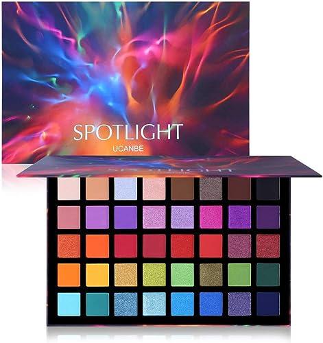 UCANBE 40 couleurs Spotlight fards à paupières Multi-reflective Shimmer Glitter Peacock Eye Shadow Ombre à paupières ...