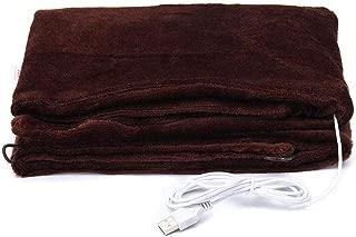Z-YQL USB Heated Warm Fleece Shawl & Wrap Intelligent Electric Heating Blanket Kneepad for Home, Office (Coffee)
