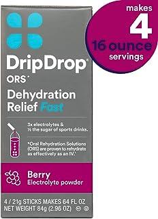 DripDrop ORS 无麸质保湿粉饼 4 盒,柠檬,2 只装 21g sticks (4 Count)