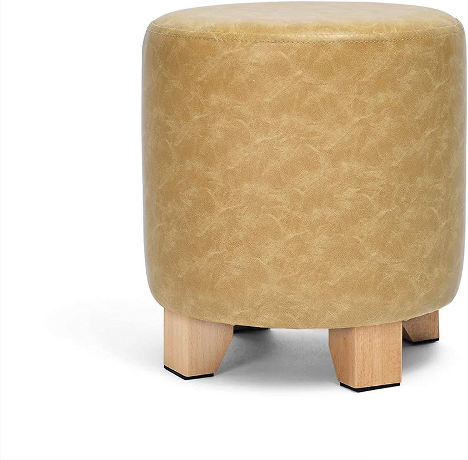 European Chair Solid Wood Stool, Fashion Leather Stool, Creative Sofa Stool, Low Stool, Home, Change shoes, Stool (color   B, Size   30CM)