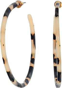 Leopard Hoops Earrings