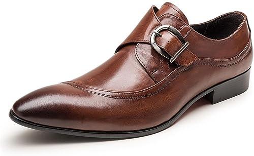 hombres Inteligente Oxford Formal Negocio Lace Up Cuero zapatos Puntiagudo Dedo del pie negro marrón Boda Oficina Trabajo , marrón , EUR 39  UK 6