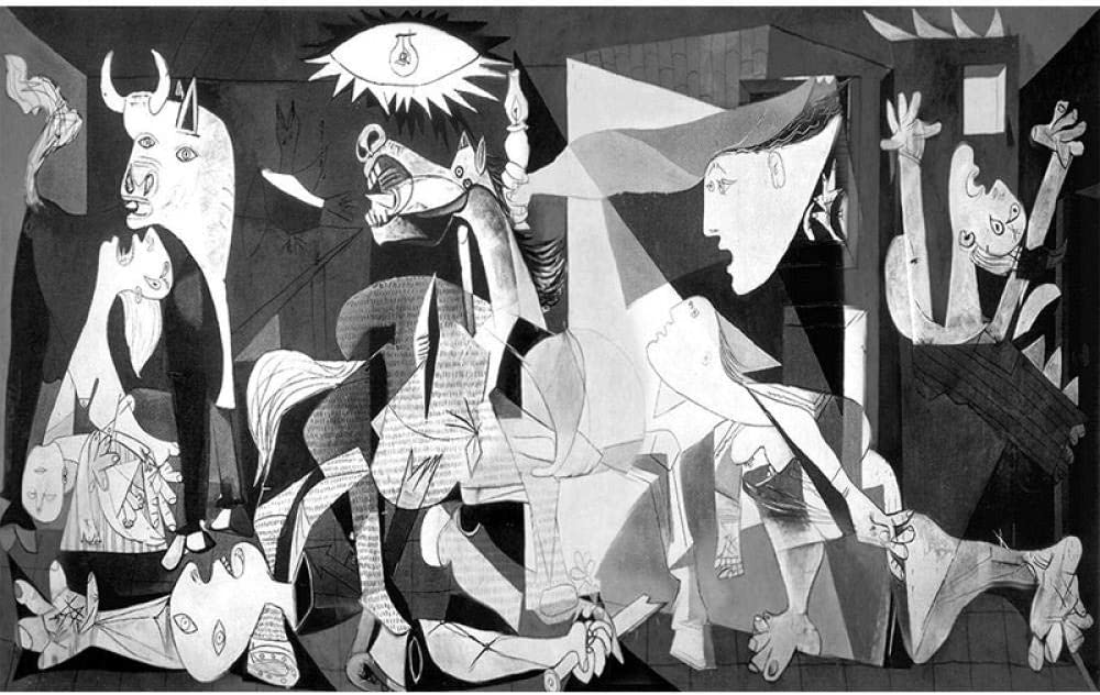 Pintura Diamante 5D Pablo Picasso Pintura Famosa Guernica Bordado De Diamantes Patr/ón De Punto De Cruz Decoraci/ón Para El Hogar,30X40cm