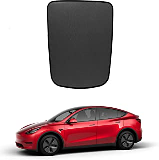 Jaronx for Tesla Model Y Glass Roof Sunshade,Overhead Roof Sun Shade+ UV/Heat Insulation Film,Sunroof UV Rays Protection W...