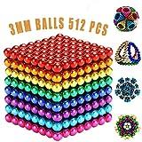 MBTRY Bolas pequeñas cubo 512 piezas de 3 mm coloridas bolas de juguetes para ejercitar habilidades de pensamiento, aliviar el estrés juguetes de escritorio de oficina