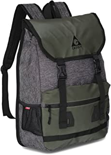 Gerry Outdoors - Lancaster Coated Canvas Heather Flapover Backpack, Olive