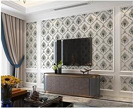 Vliesbehang 3D driedimensionaal Damascus lichtblauw 3D behang vliesbehang elegant behang klassiek eenvoudig behang voor de...