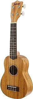 "Juarez JRZ21UK 21"" Soprano Ukulele Kit, Aquila Strings (Strings Made In Italy), Hawaiian Guitar, Rosewood Fingerboard, With Bag And Picks- Natural"