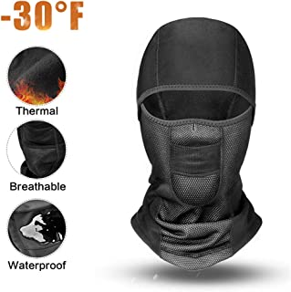 Thermal Balaclava Face Mask for Motorcycle Balaclava Ski Mask-Waterproof Windproof for Men, Women, Kids