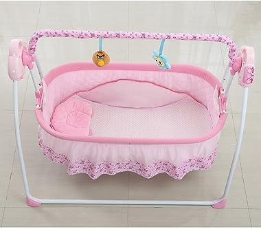 Electric Baby Crib Music Cradle Rocking Infant Bassinet Sleeping Bed Auto Bassinet Swing Sleeping Bed Auto-Swing Big Baby Bed