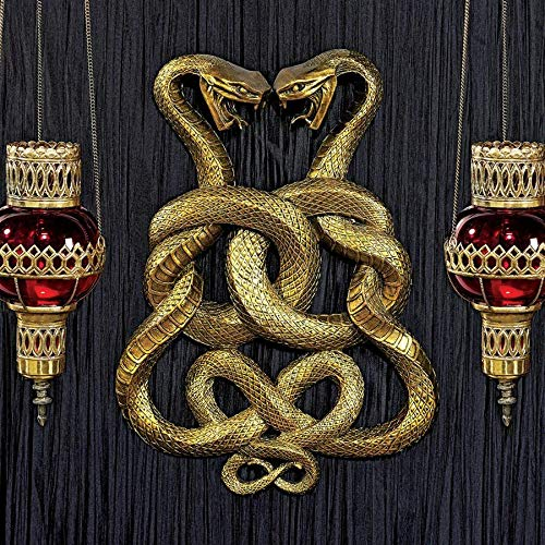 Design Toscano Egyptian Infinity Cobra Twins Wall Plaque