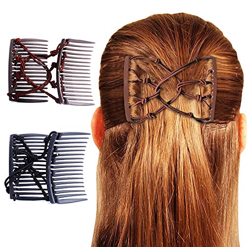 RADUGAA 2 pcs Handmade Exquisite Magic Changeable Hair pin and Elastic Hair Rope Knot Comb, Hair Accessories for Women