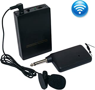 Wireless Microphone System Wireless Microphone Set with Headset &Lapel Mics, Transmitter &Receiver Ideal for Teaching, Preaching and Public Speaking Applications