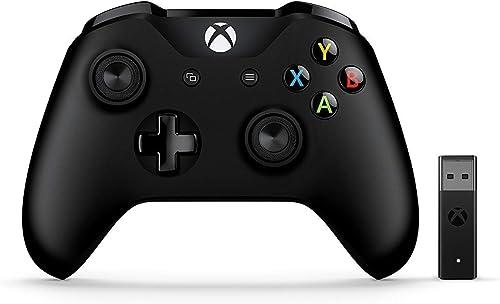 Microsoft Manette Xbox avec Adaptateur sans Fil pour PC - Noire