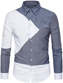 iLXHD Men's Long Sleeve Formal Casual Suits Slim Tee Dress Shirts Blouse Top(,)