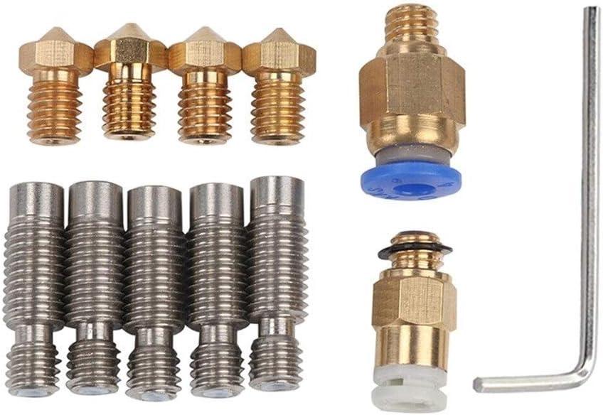 LUOERPI 1 Set New 3D Printer V6 J Head Hot End 1.75mm Filament Bowden Extruder Nozzle 0.4mm 3D Printer Parts Accessories
