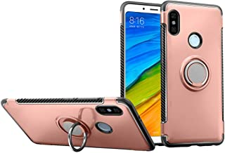 Xiaomi Redmi Note 5 Case DWaybox Hybrid Back Case with 360 Degree Rotation Ring Holder for Xiaomi Redmi Note 5 Pro/Redmi Note 5 Compatible with Magnetic Car Mount Holder (Rose Gold)