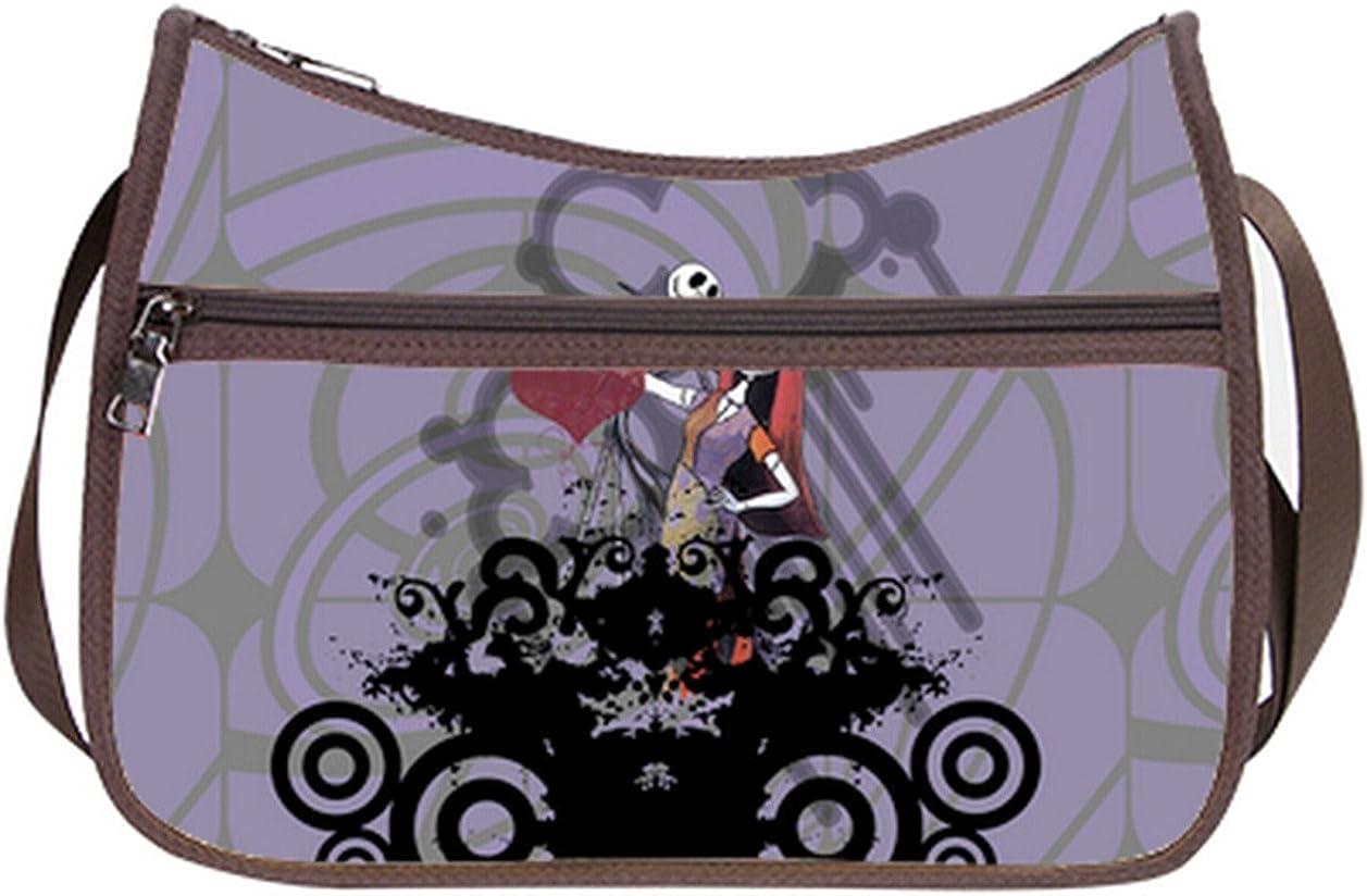 Simple Classic Everyday Hobo Handbag Female Women Shoulder-to-Crossbody Hobo Bag Jack and Sally Pattern