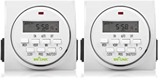 BN-LINK 7 Day Heavy Duty Digital Programmable Timer, FD60 U6, 115V, 60Hz, Dual Outlet, Indoor, Packaging May Vary, Dual Ou...