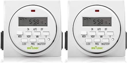 BN-LINK 7 Day Heavy Duty Digital Programmable Timer, FD60 U6, 115V, 60Hz, Dual Outlet,..