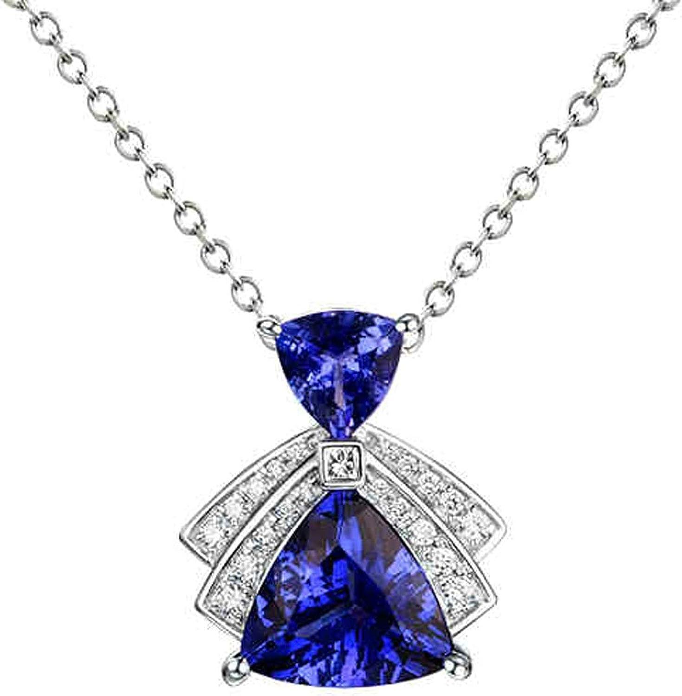 Epinki Women 18k White Gold Jewelry Triangl Dress Set Blue Baltimore Mall Shape Popular brand