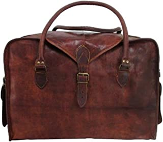 Leather 21 Inch Duffel Travel Gym Sports Overnight Weekend Leather Bag