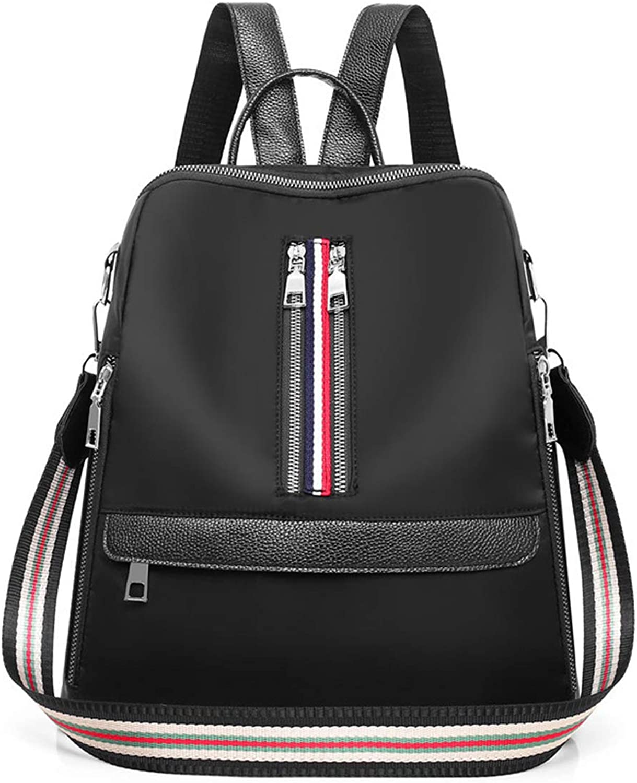 2019 New Women's Backpack, Ladies Rucksack Waterproof Lightweight AntiTheft College Style Shoulder Handbag,Black,30  14  31cm