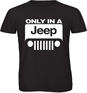 JEEP T-Shirt Print Round Neck T-Shirt For Men