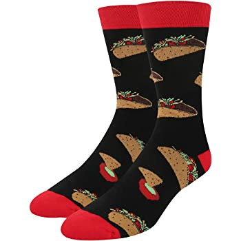 Zmart Men's Sushi Pizza Beer Taco Donuts Eggs Gift Socks, Novelty Funny Food Design