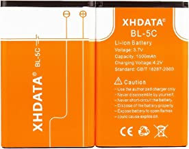 Xhdata Bl-5c 3.7v 1500mah Rechargeable Battery For Radio 2 Pieces