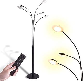 VENTOTA リモコン付調光調色LEDフロアライト フロアスタンド ランプ 間接照明FuochiBK