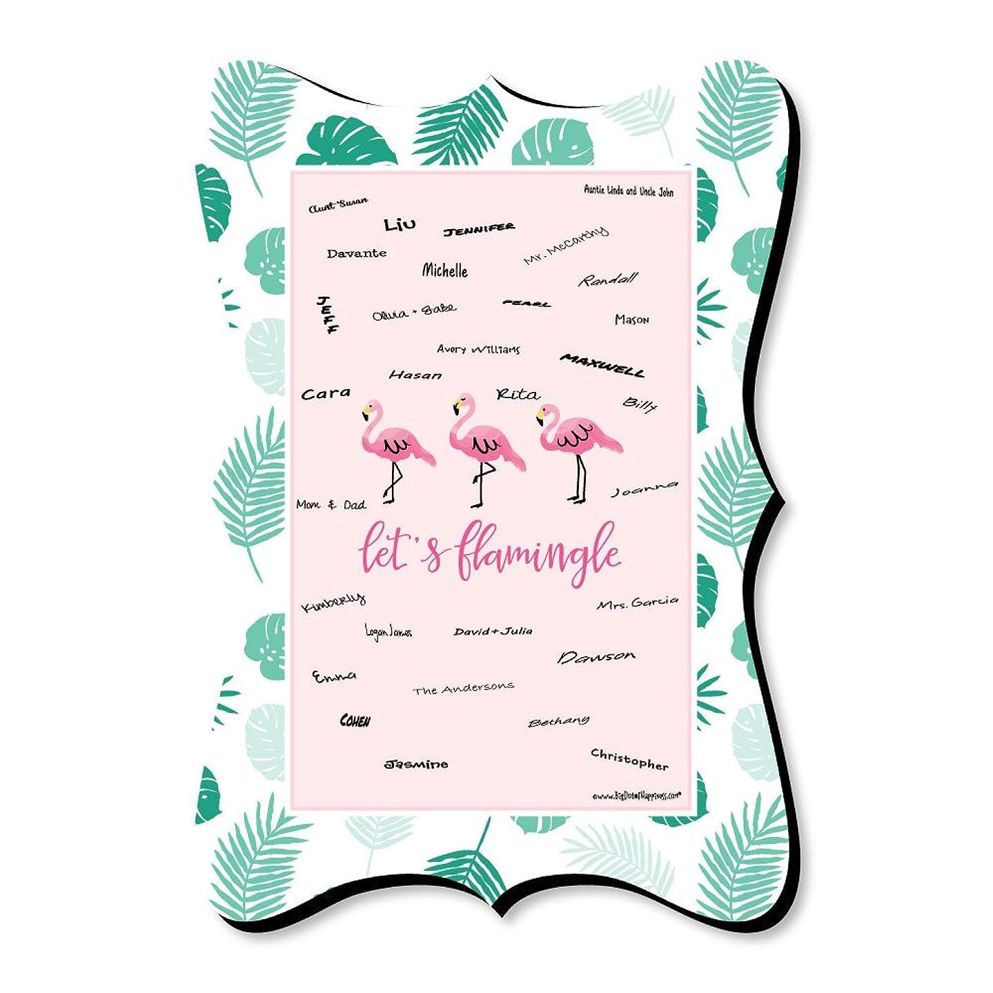 Pink Flamingo - Unique Alternative Guest Book - Tropical Summer Signature Mat