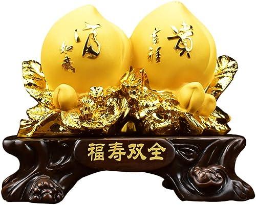Wohnaccessoires Deko Shou Tao Ornamente ältere ältere Geburtstagsgeschenke Wohnzimmer Weißchrank Günstige M l Dekorationen Perfekt Geschenkartikel (Farbe   Gold, Größe   27  15  22cm)