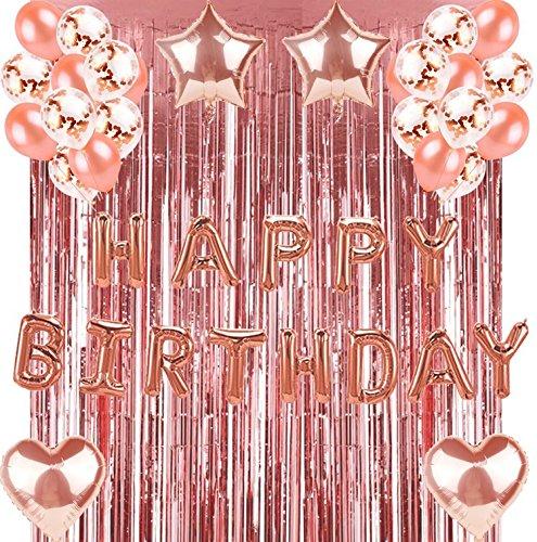 Geburtstag Dekorationen Roségold Geburtstag Party Dekoration Sets Partybedarf