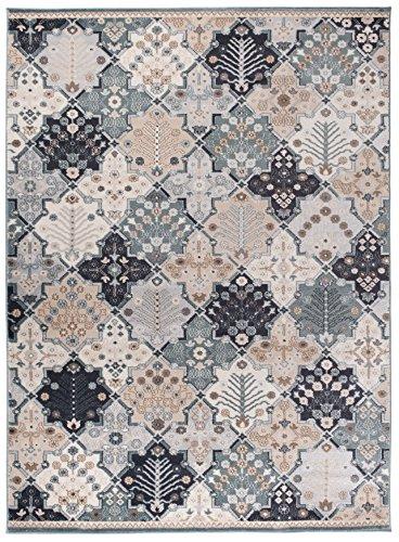 Carpeto Orientteppich Teppich Türkis 160 x 220 cm Patchwork Klassisch Muster - Wohnzimmer Schlafzimmer Esszimmer