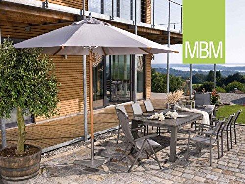 MBM Hochwertige Aluminium Sitzgruppe Malaga 8-Personen/Gartentisch / Terrassentisch/Outdoor
