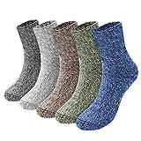 Emooqi Calcetines Para Hombre, 5 pares calcetines algodon hombre, Varios colores, talla 36-42