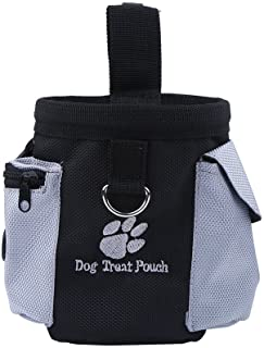 Dog Puppy Treat Bag Pouch Waterproof Training Bag with Built-in Waste Bags Dispenser for Dog Training Walking