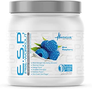 Metabolic Nutrition | ESP - Stimulating Pre Workout, Pre Intra Workout Supplement | Energy & Endurance Stimulating | Natur...