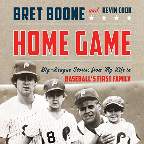 Home Game     Three Generations of Big-League Stories from Baseball's First Family              By:                                                                                                                                 Bret Boone,                                                                                        Kevin Cook                               Narrated by:                                                                                                                                 Bret Boone                      Length: 7 hrs and 7 mins     17 ratings     Overall 4.0