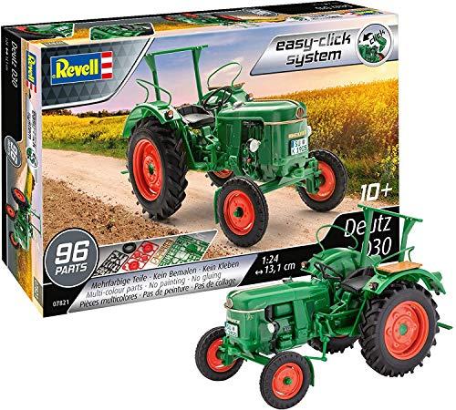 Revell easy-click 07821 Deutz D30, Traktormodell, 1:24/13,1cm Modellbausatz für Einsteiger mit dem Easy-Click-System, farbig, 1/24