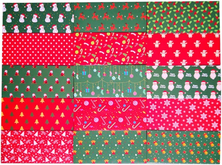 Toyvian OFFicial shop 15pcs Christmas Cash High quality new Envelopes Card Gift Christm Holders