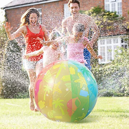 iBaseToy Beach Ball Sprinkler fo...